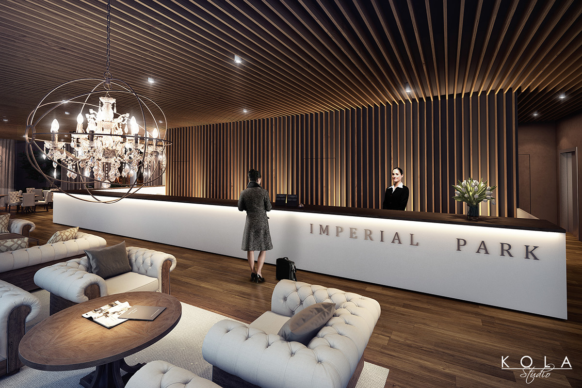 Imperial Park Hotel Interior Visualizations On Behance