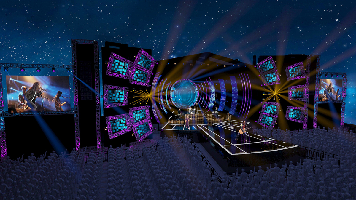 concert stage design on behance