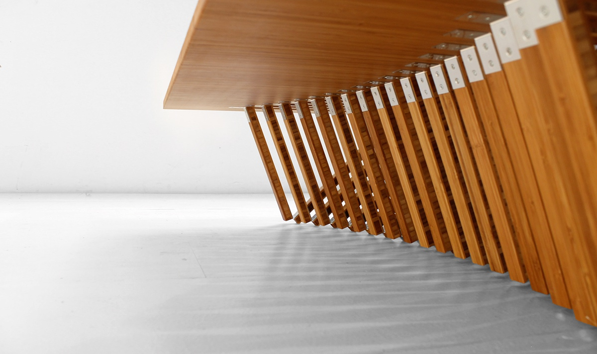 Rising table by robert van embricqs on behance for Robert van embricqs chair