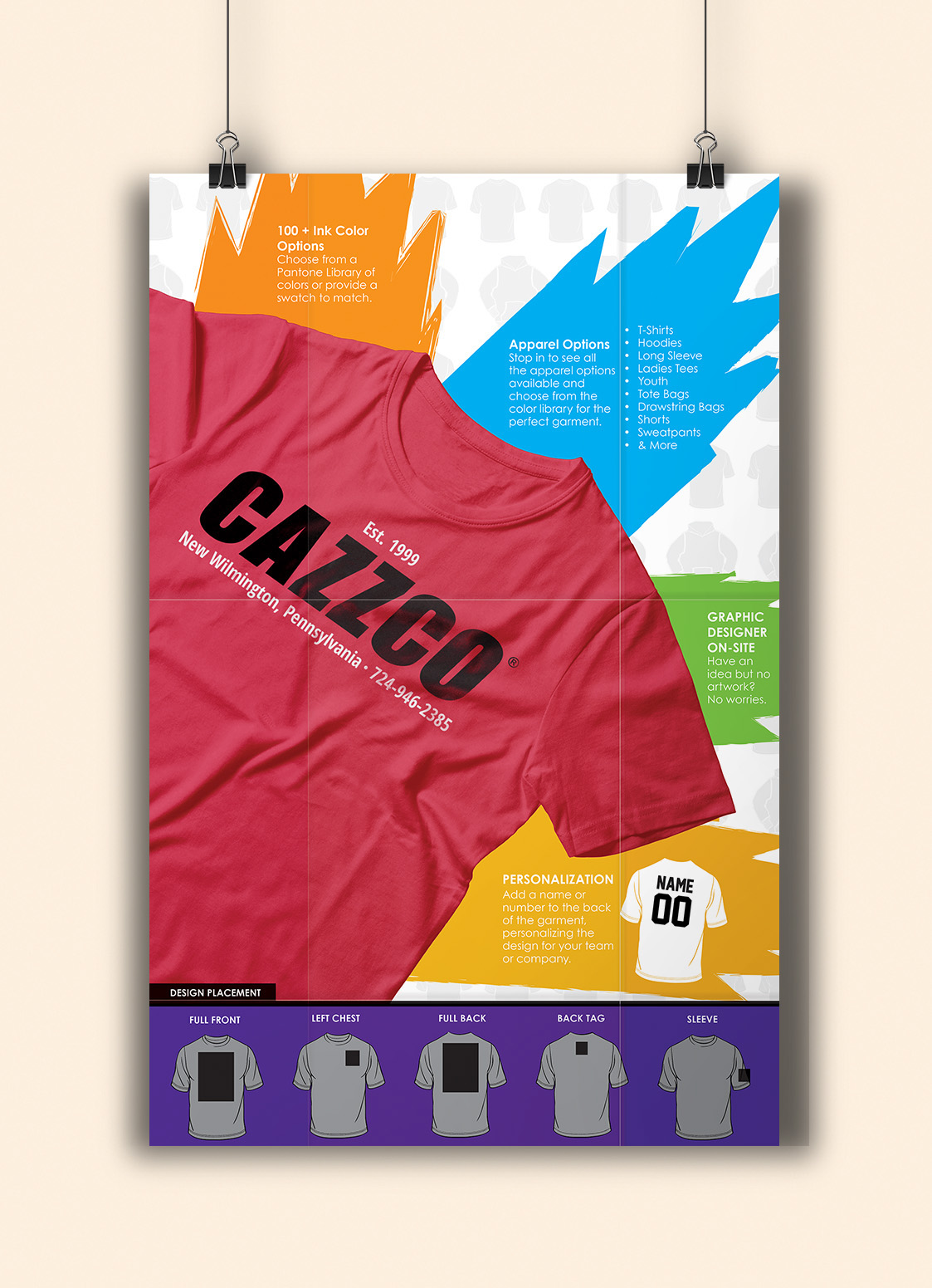 cazzco fold out brochure and poster on behance