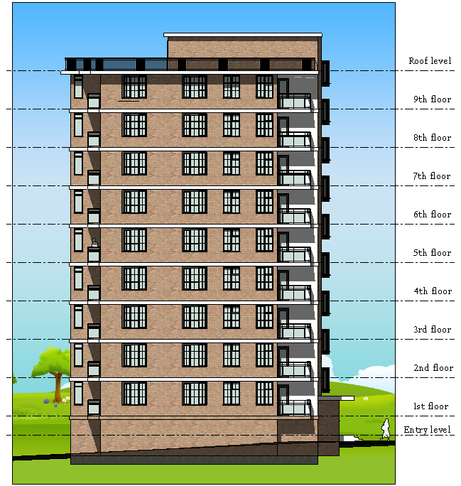Revit Floor Elevation : Apartment house design revit on behance
