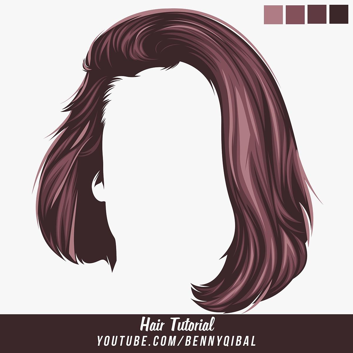 Vector Hair Tutorial on Behance