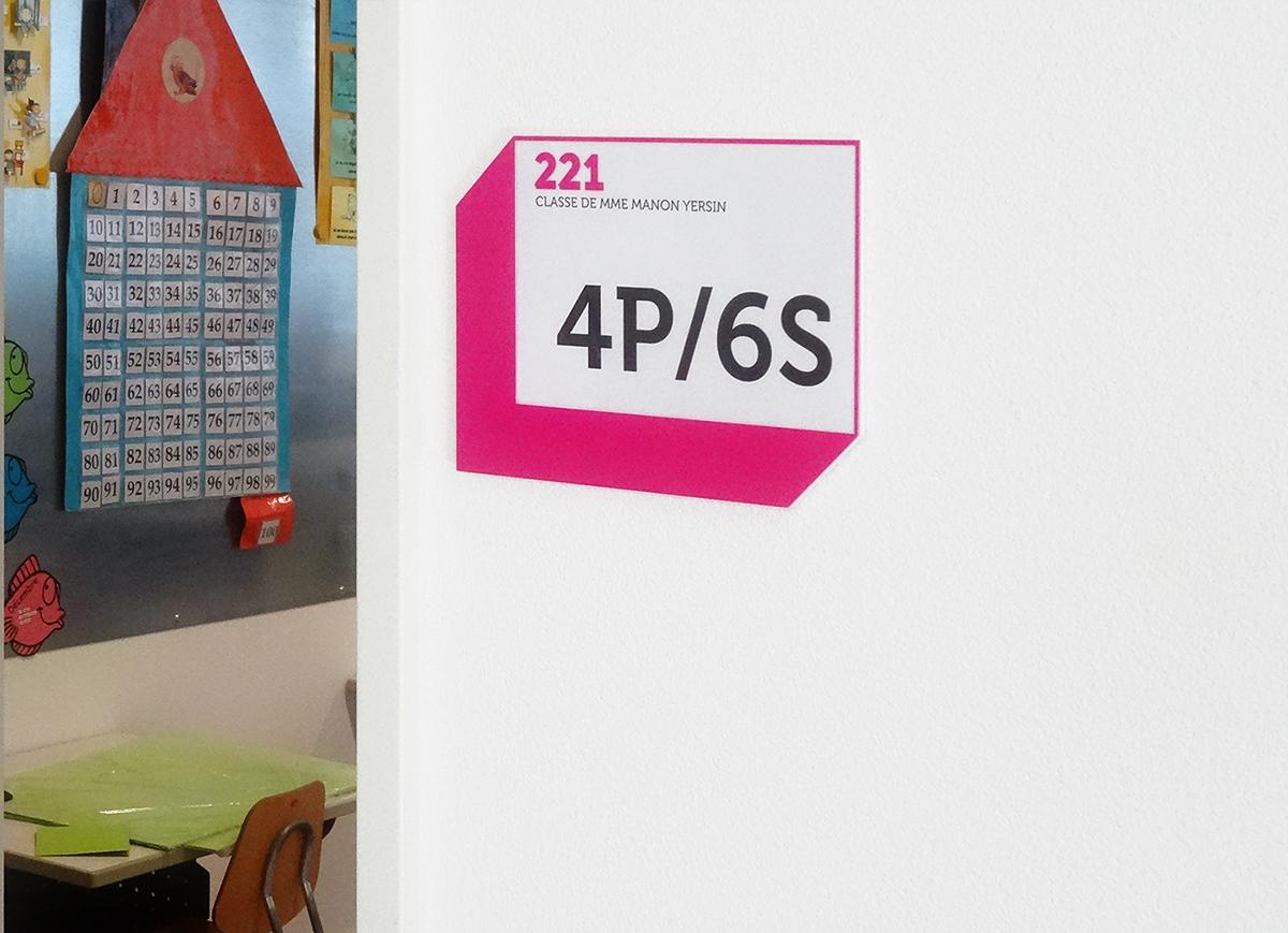 Adobe Portfolio signalétique école système d'orientation Saint-Sulpice collège des Pâquis
