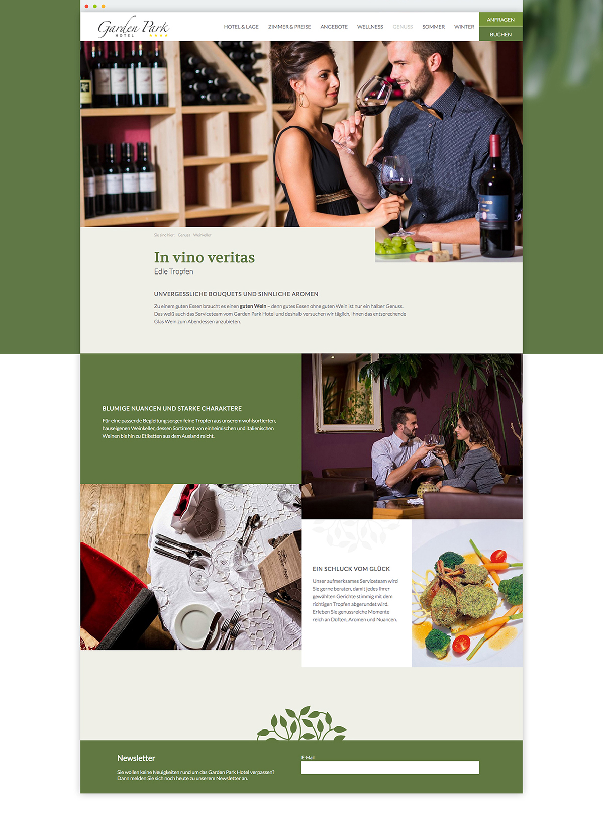 Webdesign Responsive UI/UX hotel tourism südtirol design UserInterface Screendesign branding