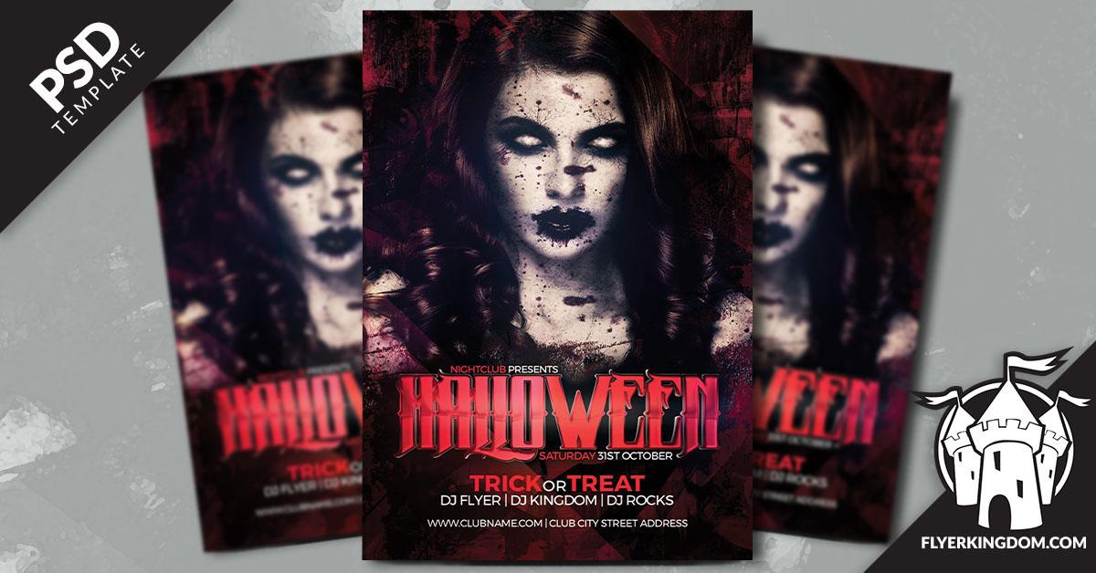 Flyer Designen Len | Halloween Psd Flyer Template On Behance