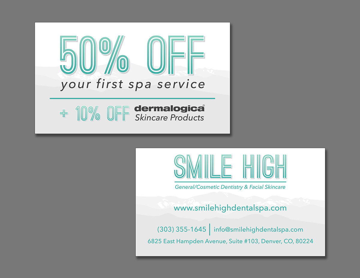 Smile High Dental & Facial Spa Identity on Behance