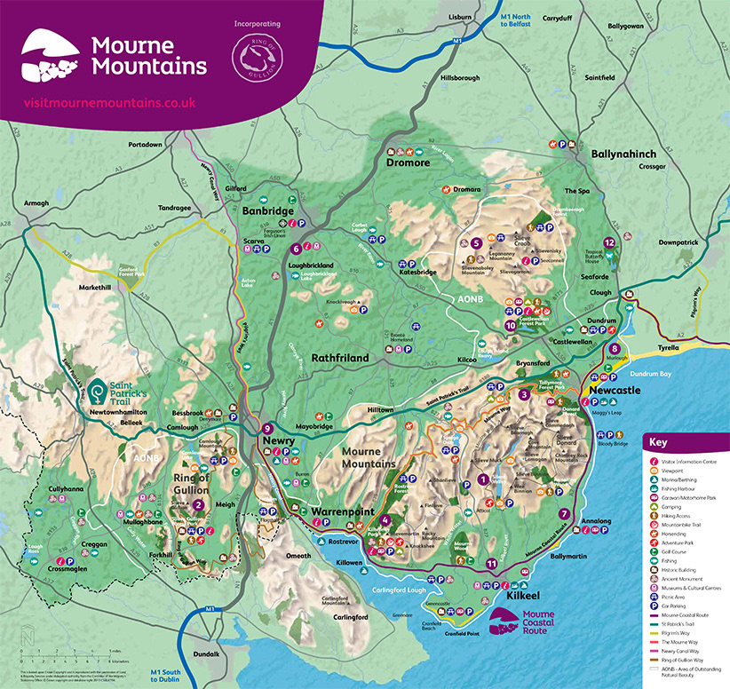 Map Of N Ireland.Mourne Mts And St Patricks Country Maps N Ireland On Behance