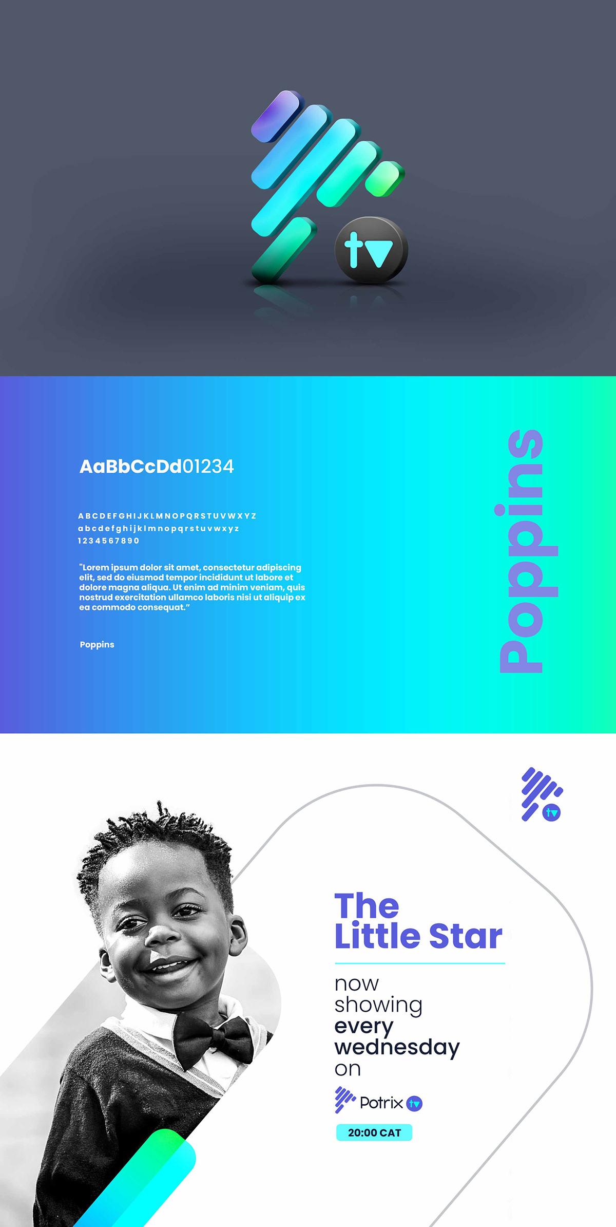 media Entertainment branding  graphics design art direction