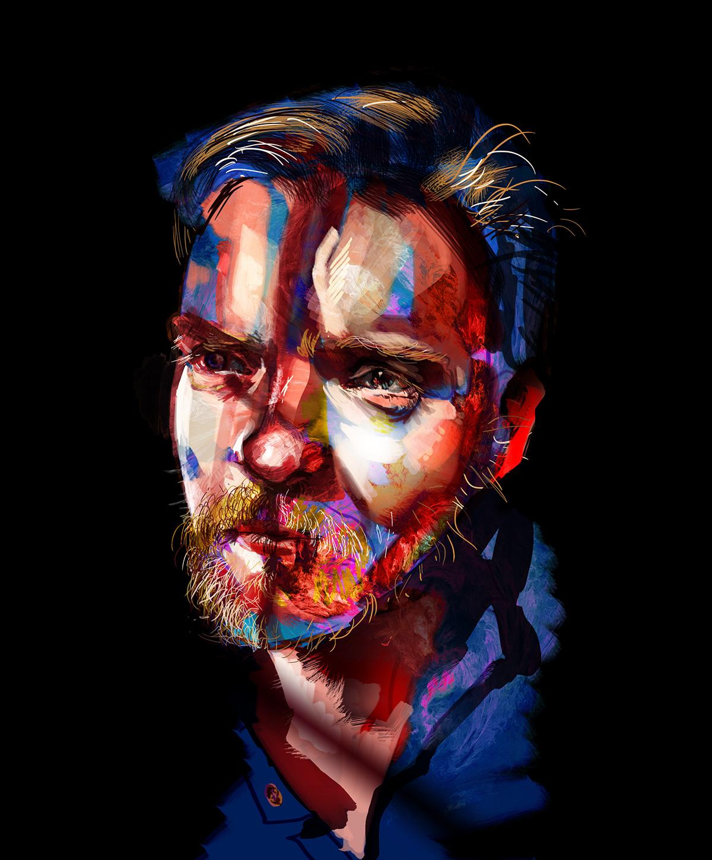 portrait colour digital