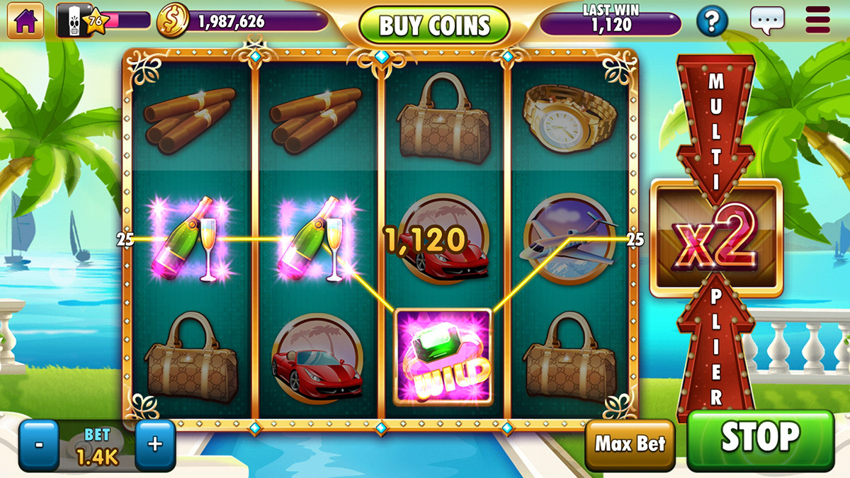 casino Gamepoint interface design mobile game unity webgl