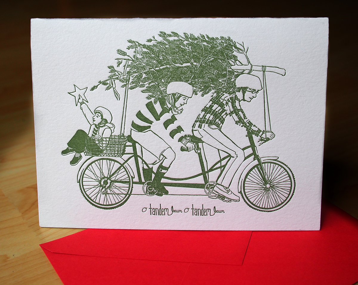 letterpress holiday cards on behance - Letterpress Holiday Cards