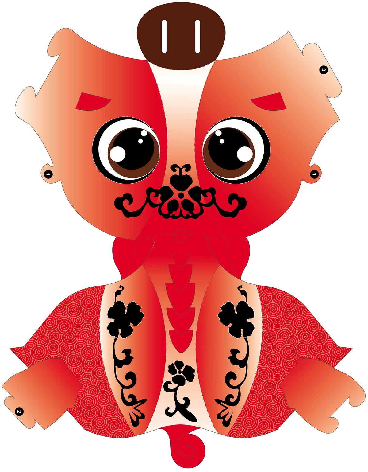 piggy chinese lantern kirigami paper cut art design on behance