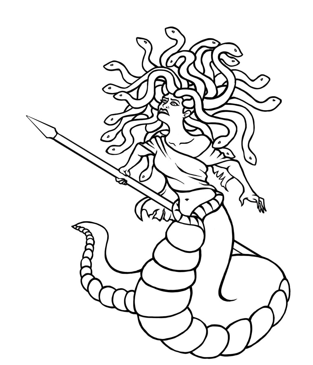 medusa gorgon outline - Picture Outlines For Colouring