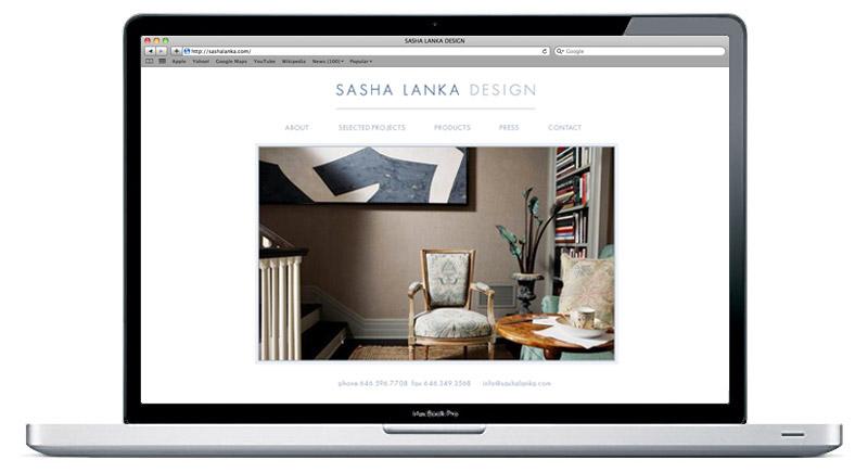 Website design for Interior Designer