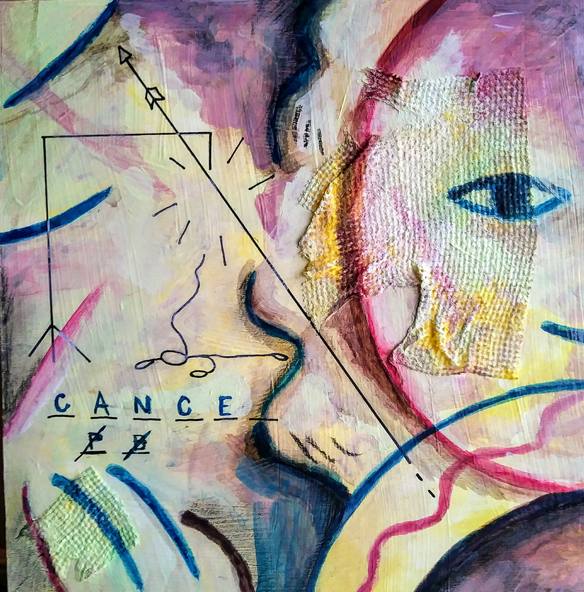 yukio kevin iraha's abstract illustration about fight cancer.