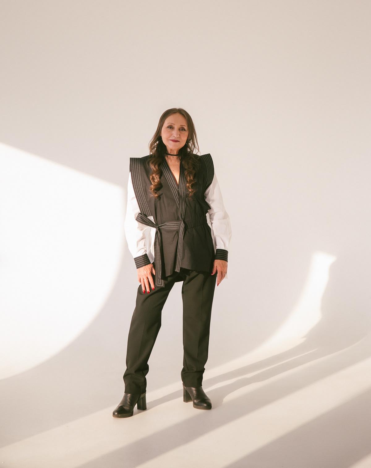 Image may contain: jacket, coat and clothing
