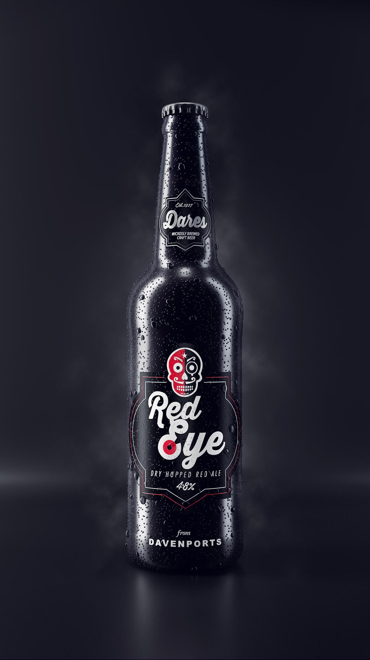 Davenports dares beer be beverages CGI bottle 3dsmax vray UK