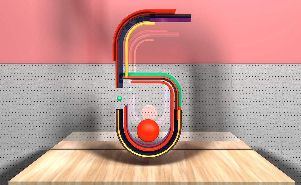 typo graphic cinema 4d design Typeface abstract 3D inspirational numbers numbers art