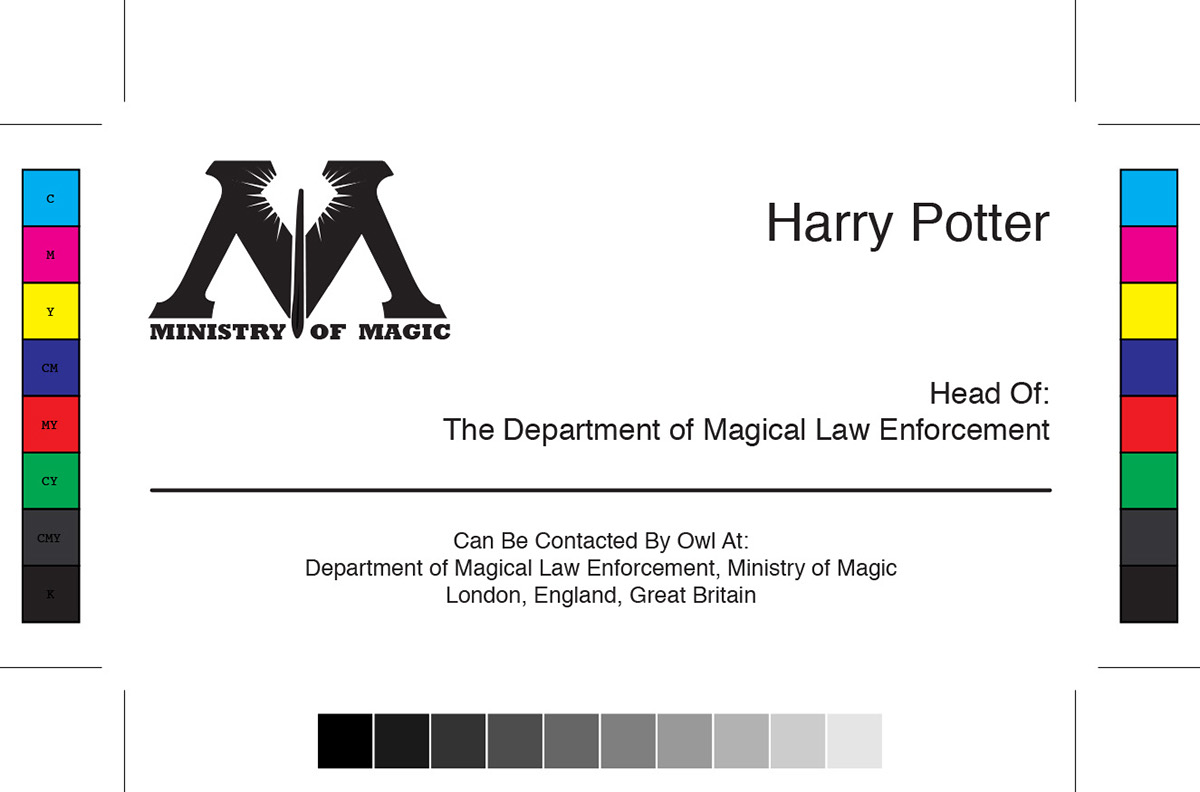 Harry Potter Business Card Designs on Behance