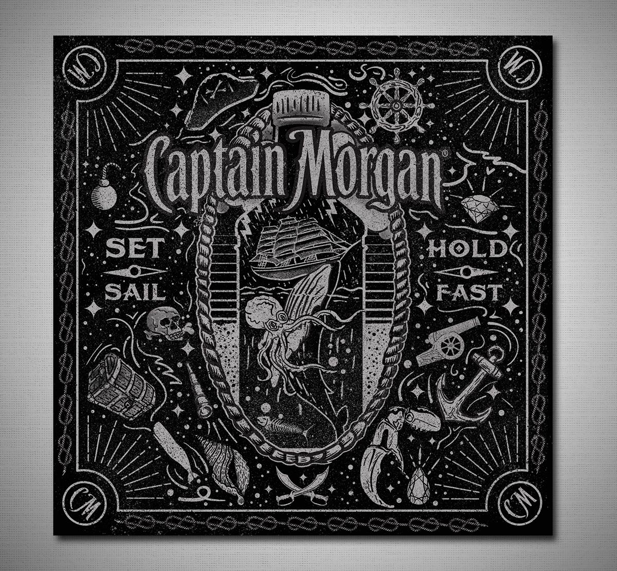 Captain Morgan Bandana Design on Behance