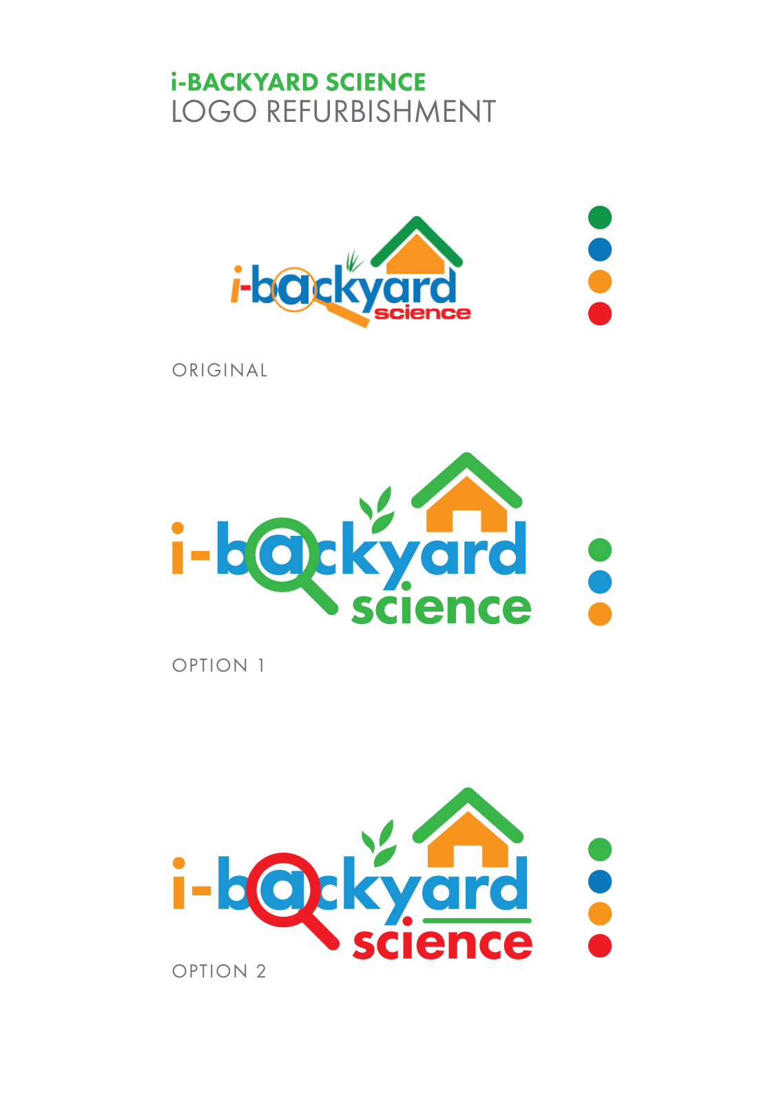 i backyard science logo improvement on behance