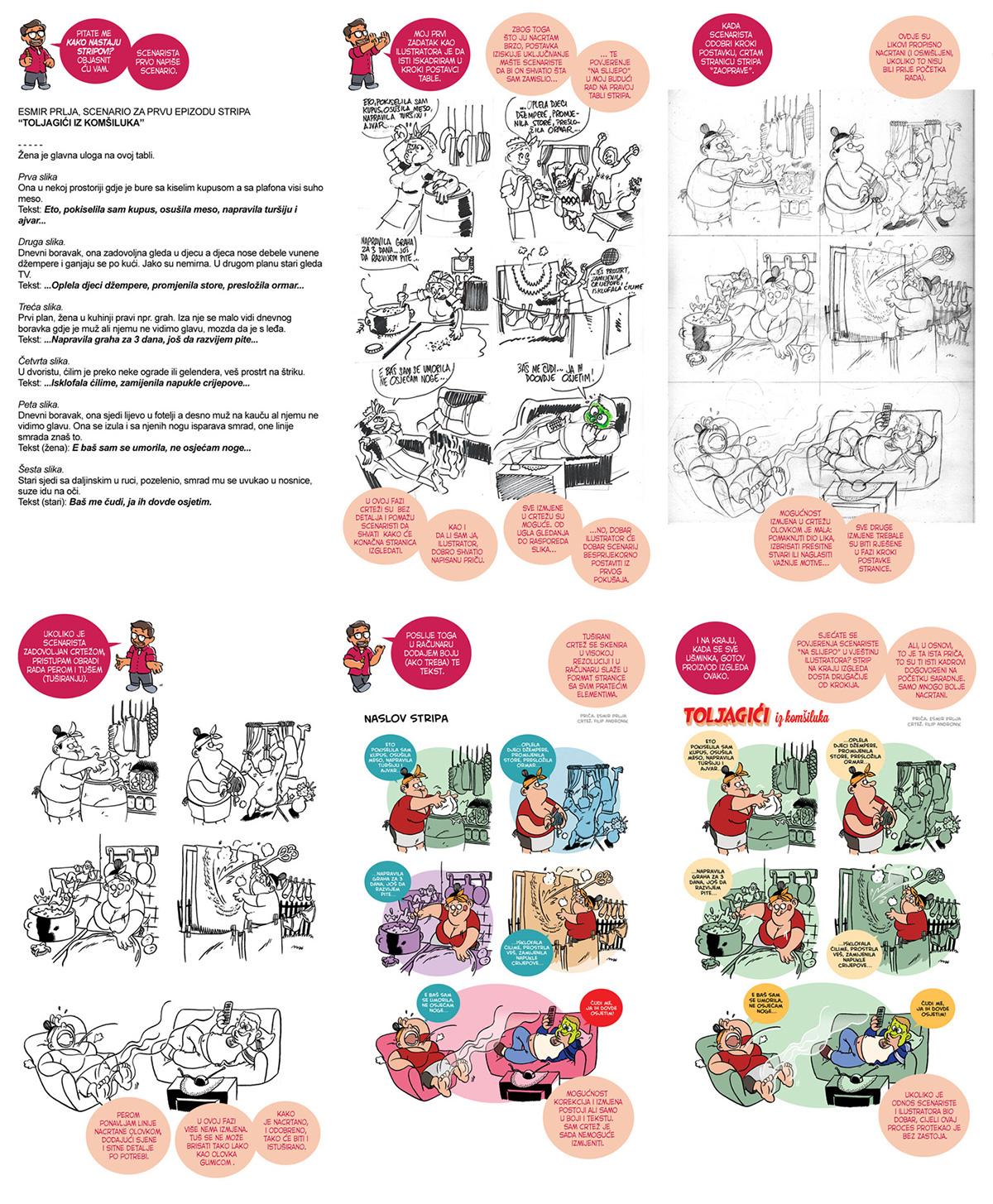 Uputstvo kako nastaju ilustracije i stripovi