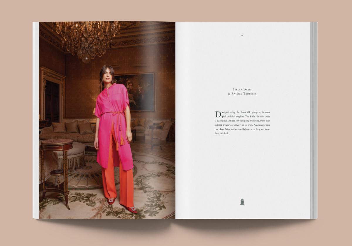 brochure campaign design Fashion  graphic design  Lookbook luxury Style typography