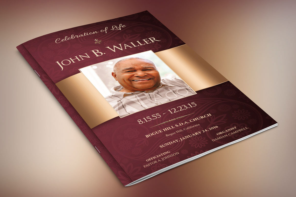 Dignity Funeral Program Publisher Templates on Behance