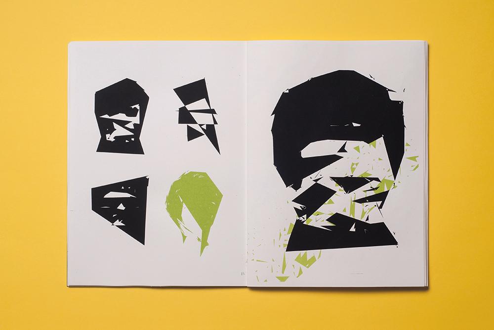 BA,thesis,screen printing,silkscreen,illustrations,book,poster