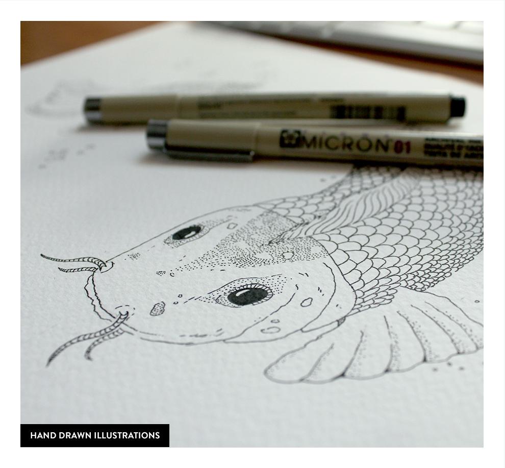 personal Stationery business card fish sea waves design sopot portfolio online identity