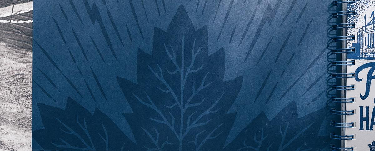 handletter handtype vintage hockey maple leafs NHL Toronto sports season tickets centennial