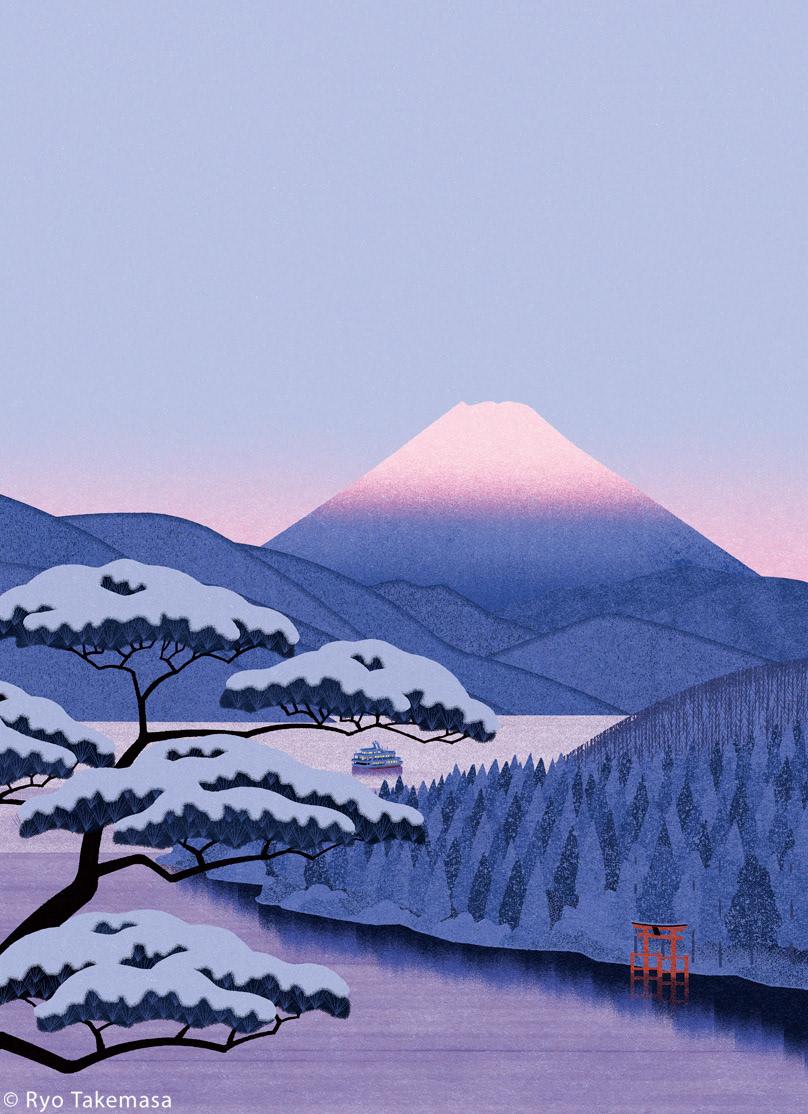 fuji japan lake Landscape MORNING mt. fuji Nature snow winter