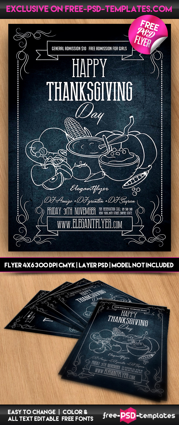 happy thanksgiving psd flyer template on behance do you need luxury and special psd flyer for your events parties or occasions you are welcome to choose this one absolutely psd flyer template was
