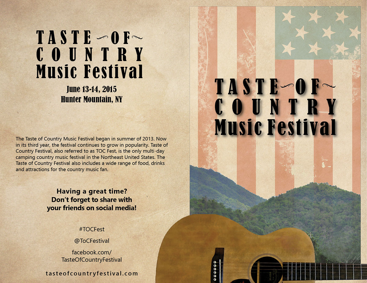 Country Music Festival Brochure on Behance