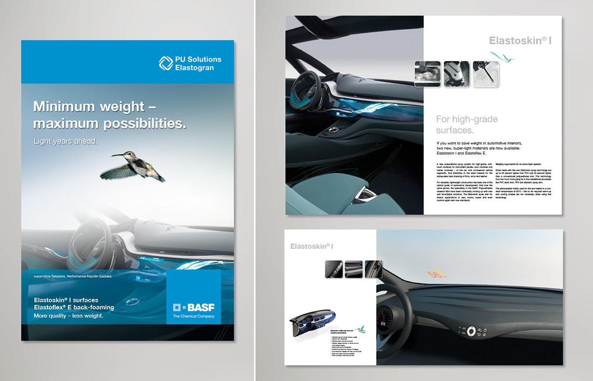 BASF Polyurethanes Lemförde Chemical company automotive   lightweihgt Global PUR brochure advertisement flyer folder plastic slentite
