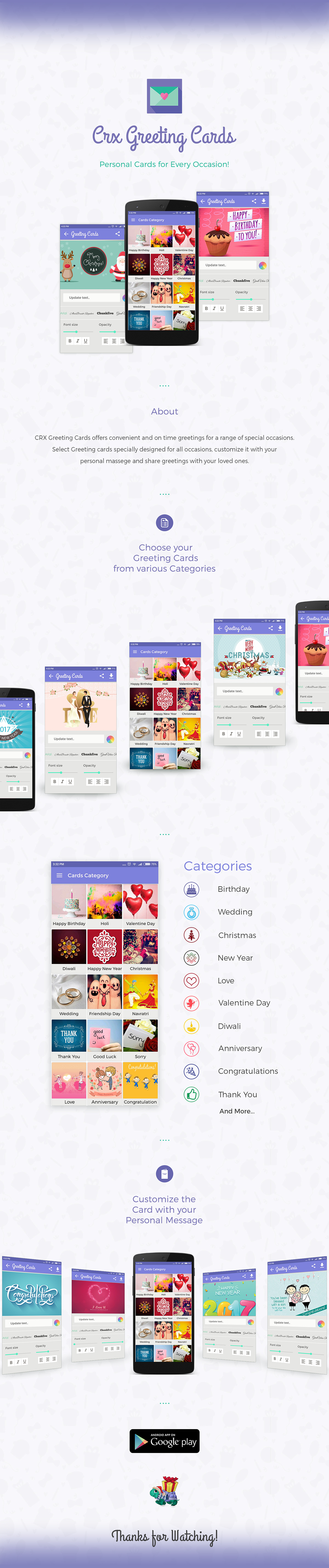 Crx Greeting Cards Android App On Student Show