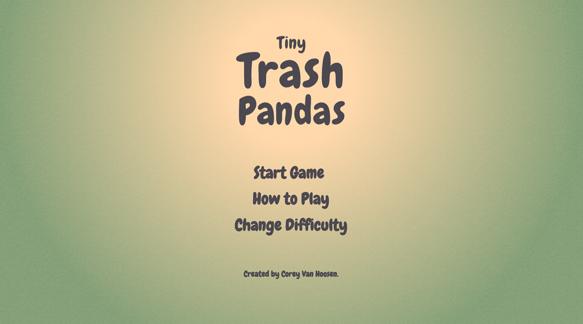 raccoons game indieDev cute trash
