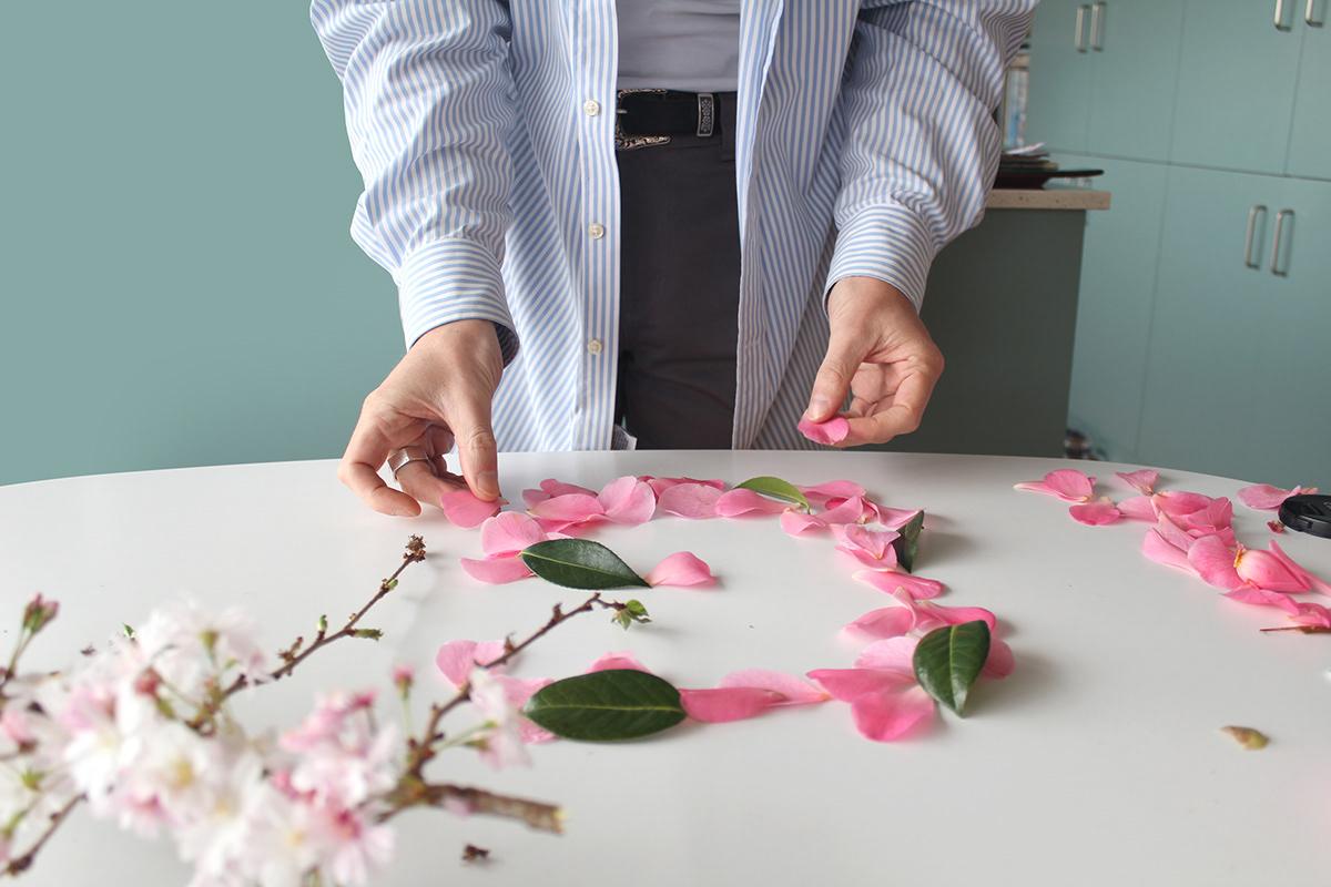 Flora Flowers font handmade font New Zealand petals pink queer type Typeface