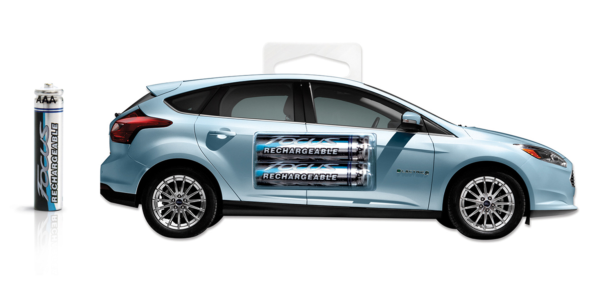 The Solution Branded Rechargeable Batteries Were Created As Giveaways For Customers Who Opted To Test Drive One Of Fords New Electric Or Hybrid Vehicles
