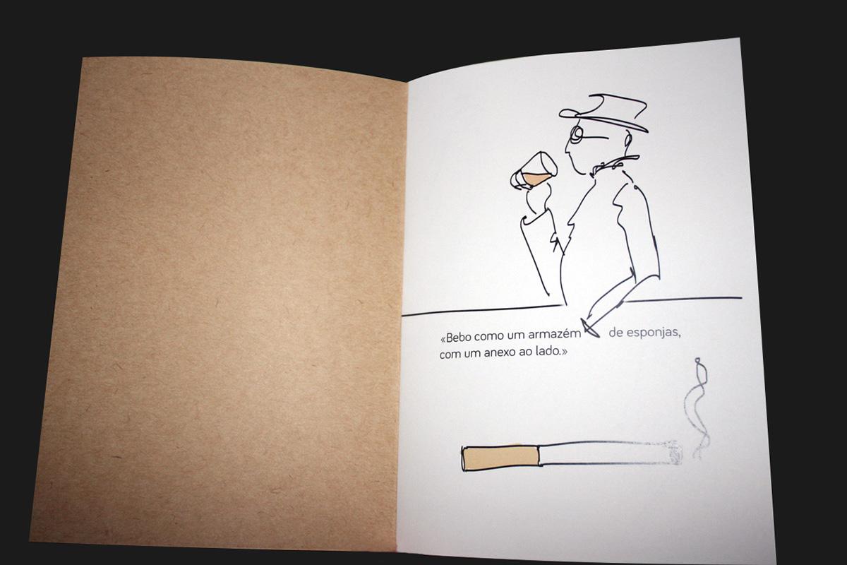 fernando pessoa Homenagem caderno drawings desenhos illustrations sketchbook