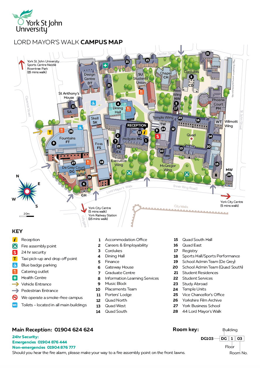 map of york university campus Illustrated Campus Plans On Behance map of york university campus