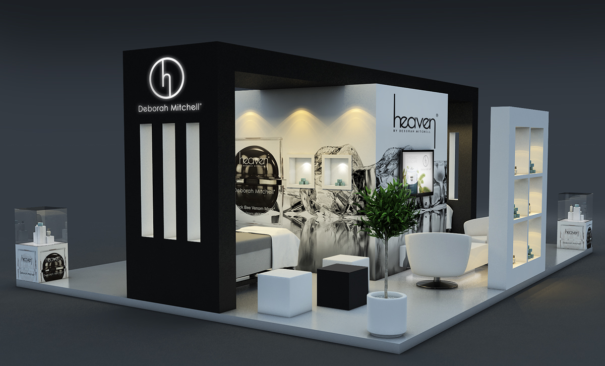 Exhibition Stand Behance : Heaven skin care exhibition stand on behance