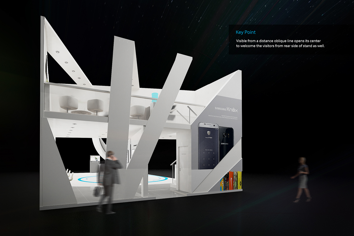 Samsung Exhibition Stand Design : Samsung exhibition stand gitex tech on behance