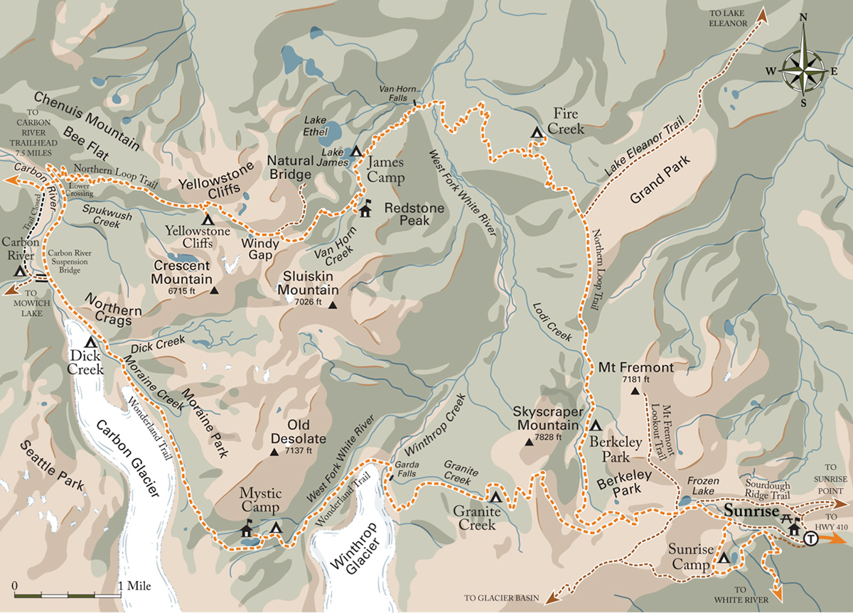 Northern Loop Trail Map