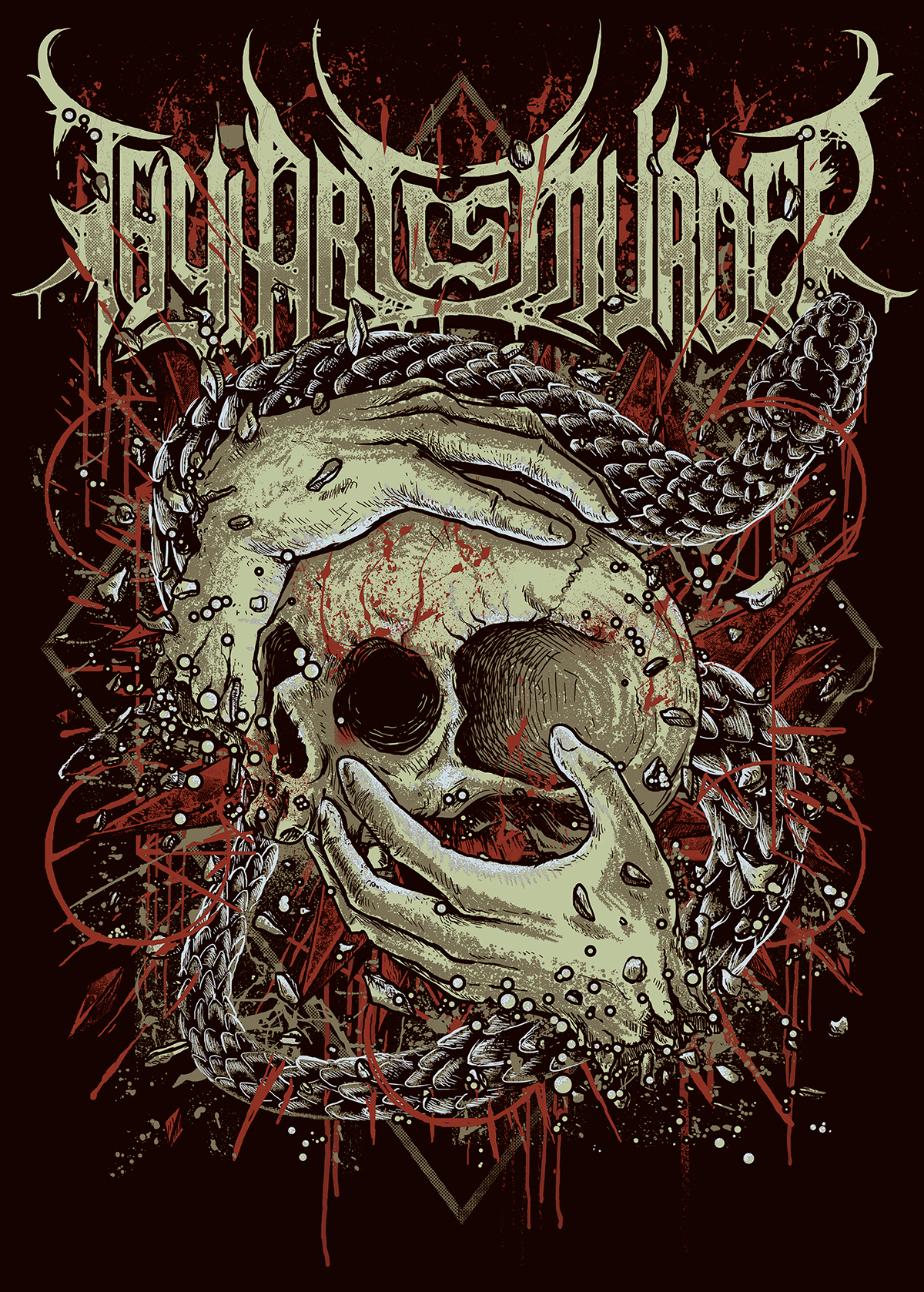 thy art is murder on behance Of Mice and Men Logo suicide silence logo font