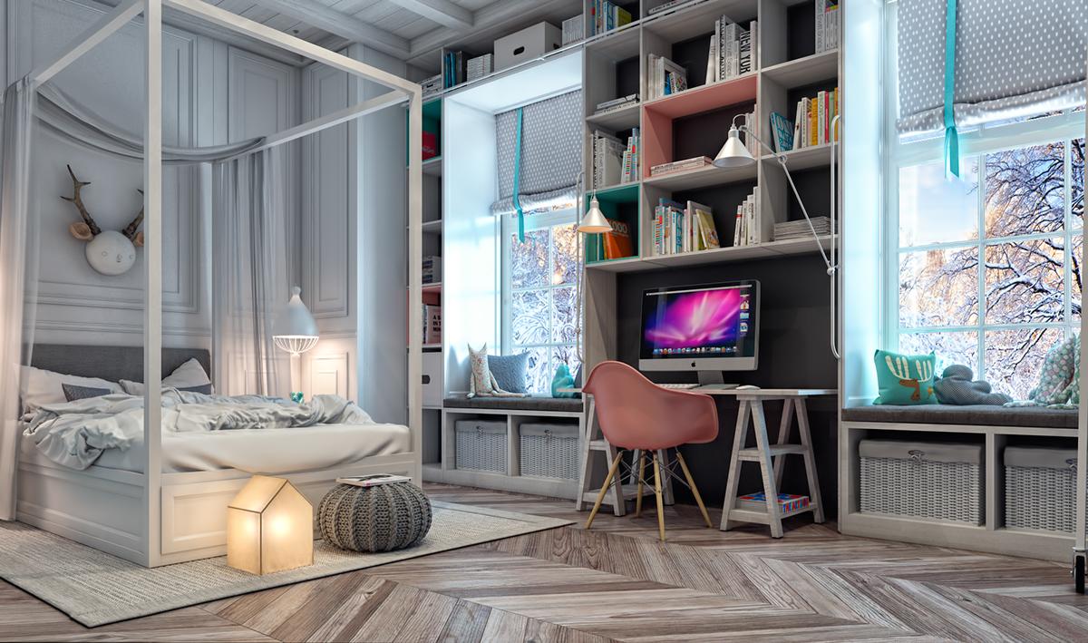Kids bedroom on behance - Chambre moderne ado ...