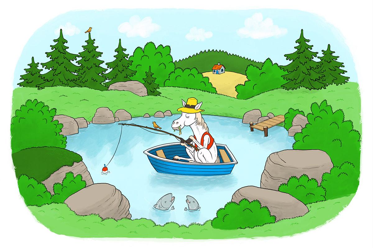 bird,fish,fishing,hat,horse,lake,Nature,rock,Tree ,woods