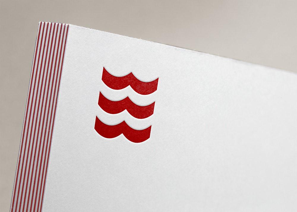 Logotype identity macau asia Stationery red river waves