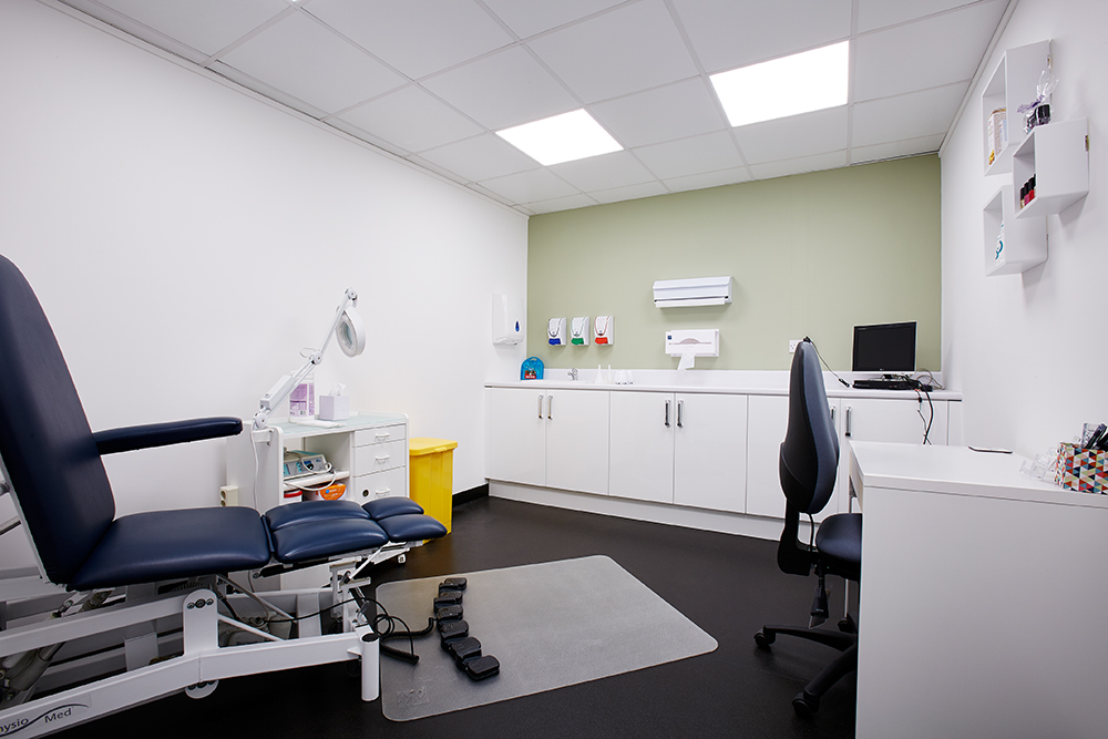 Chiropodist's consulting room, Feet etc.