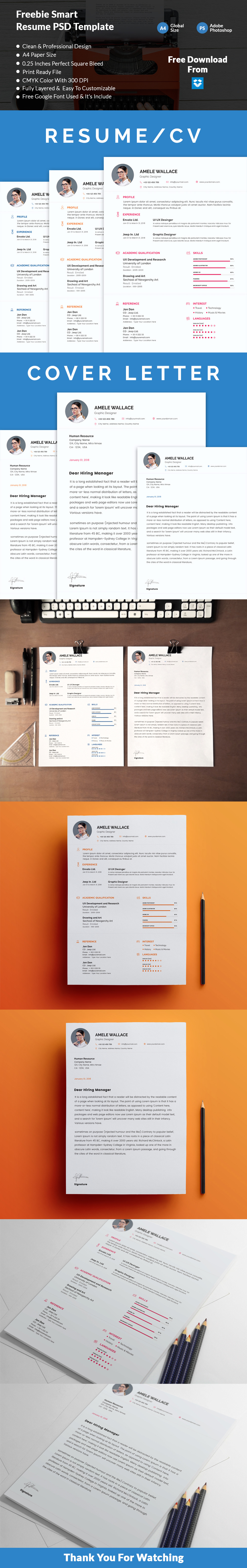 free,Free Resume,free cv,creative,a4,professional,cover letter,clean,info graphic,elegant resume